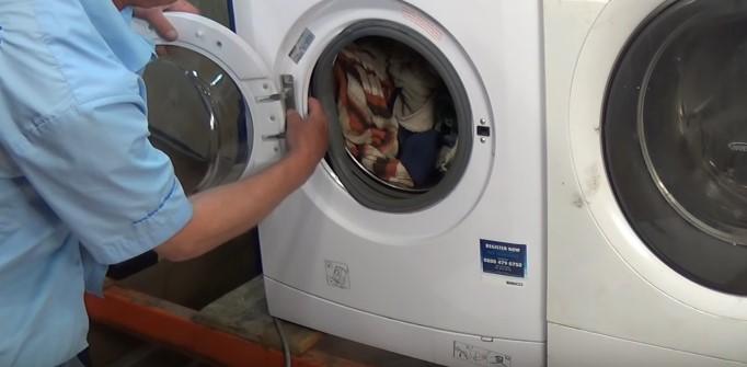установка люка стиральной машины